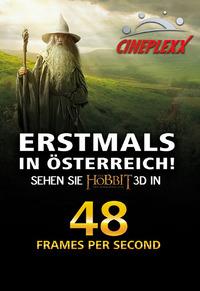 Der Hobbit - Eine unerwartete Reise (NEU: 48HFR 3D)@Cineplexx Donauplexx