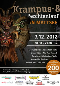 Perchtenlauf Mattsee 2012@Ortszentrum Mattsee