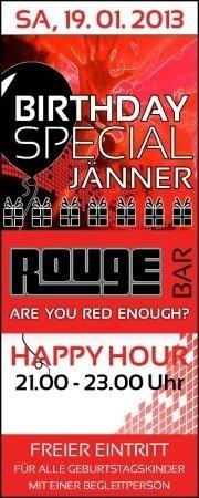 Birthday Special Jänner@Rouge Bar