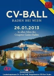 65. CV-Ball Baden - Der Traditionsball in Niedersterreich@Casino Baden