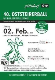 40. Oststeirerball in Gleisdorf@Forumkloster Gleisdorf