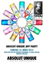 Absolut Unique APP Party