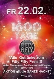 1600 Tage Fifty Fifty