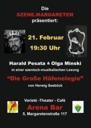 Szenisch Musikalische Lesung@Arena Bar Variete Theater Cafè
