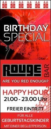 Geburtstagsspecial Februar@Rouge Bar