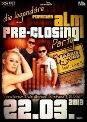 Legendäre Pre Closing Party mit Harris  Ford ft. Lisah