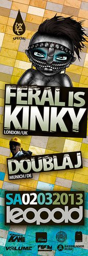Sweat pres. Feral is Kinky & Doubla J@Café Leopold