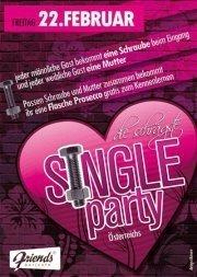 Die schrägste Single Party Österreichs@Friends Show-Cocktailbar