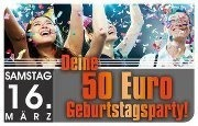 Deine 50Euro Geburtstagsparty