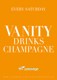 Vanity drinks Champagne