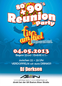 80's + 90's Reunion Party / Eis am Stiel - Special@All iN