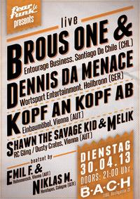 Fear le Funk pres. Brous One & Dennis Da Menace@dasBACH