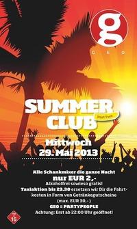 Summerclub II  Sonderöffnungstag
