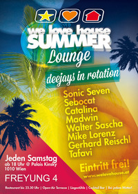 we love house Summer Lounge@Klub im Palais Kinsky
