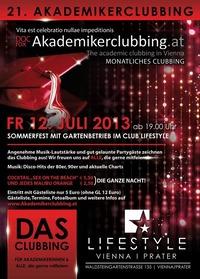 21. Akademikerclubbing - Sommerfest, FREITAG 12. Juli /19h!