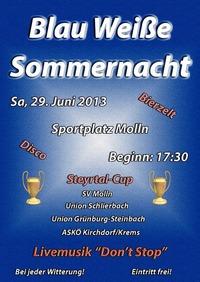 Blau Weiße Sommernacht@Boards & More Stadion SV Molln