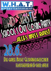 School's Out Closing Party