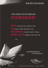 Kissenschlacht mit Sokool, Isili und René Schwedler@Club Auslage