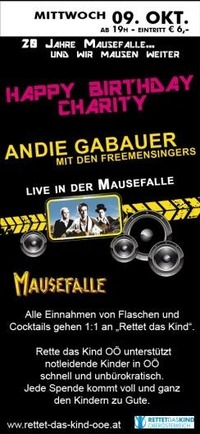 20 Jahre Mausefalle - Happy Birthday Charity