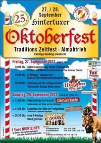 Hintertuxer Oktoberfest 2013 - 25 Jahre Jubiläum@Parkplatz Gletscherbahn