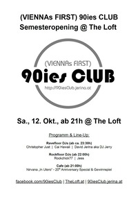 90ies Club: Semesteropening@The Loft