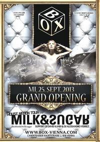 [box]  - Grand Opening mit Milk & Sugar@BOX Vienna