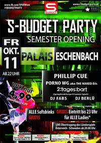 S-Budget Party Wien  - Semesteropening