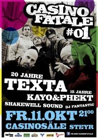 Casino Fatale 1 mit Texta live in Concert@Casinosäle