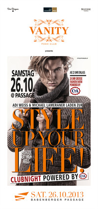 Vanity pres. Style Up Your Life! Clubnight