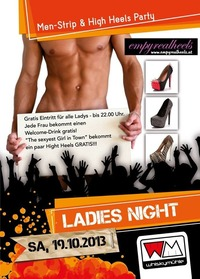 Ladys Night: Men Strip  Hight Heels Party@Whiskymühle