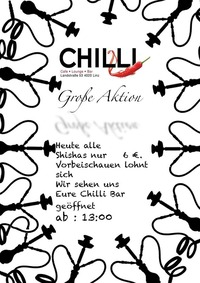 Shisha Aktion@Chilli Bar