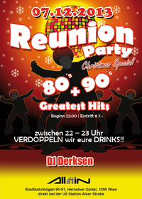 Reunion - Party | 80's, 90's + Greatest Hits | X - Mas Special@All iN