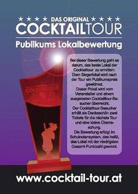 Party zur Überreichung des Publikums-Bewertungs-Pokal der 40. CocktailTour@COCKTAILTOUR WIEN