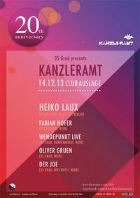 35 Grad presents Kanzleramt / heiko Laux@Club Auslage