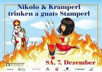 Nikolo  Kramperl trinken a guats Stamperl@Ramsauhof
