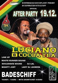 Aftershow Party Luciano & Cocoa Tea@Badeschiff