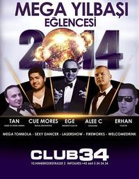 Mega Yilbasi Eglencesi (100 de100 sadece Party)@Club 34