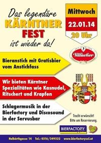 Kärntner Fest@Bierfactory XXL