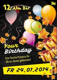 your birthday@12er Alm Bar