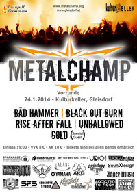 Metalchamp 2014 - Vorrunde Steiermark I@Kulturkeller Gleisdorf