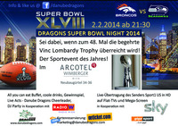 Danube Dragons Super Bowl Night@Arcotel Wimberger