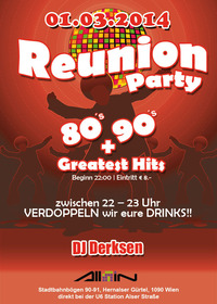 Reunion Party | 80s, 90s + Greatest Hits@All iN