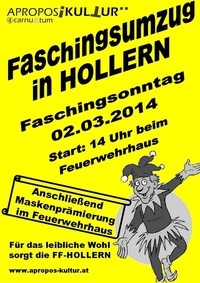 Faschingsumzug mit after Show Party@Feuerwehrhaus Hollern