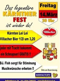 Legendäres Kärntner Fest@Bierfactory XXL