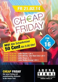 Chap Friday - ab 16 Jahren@Arena Tirol