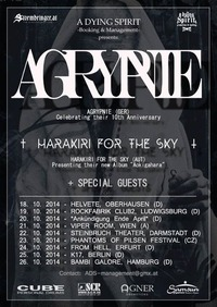 Live: Agrypnie, Harakiri For The Sky & Guest