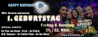 1 Jahr Crystal Bottle Bar