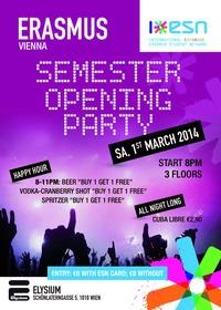 ESN - Erasmus Semester Opening Party