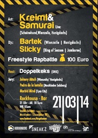 King of Season Freestylebattle + Live-act: Kreiml & Samurai (honigdachs/ Schweinehund/ Wienzeile)