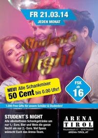 Students Night - ab 16 Jahren@Arena Tirol